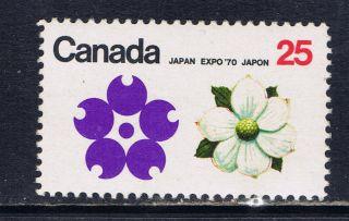 Canada 509 (2) 1970 25 Cent Expo ' 70 Dogwood B.  C.  Cv$3.  00 photo