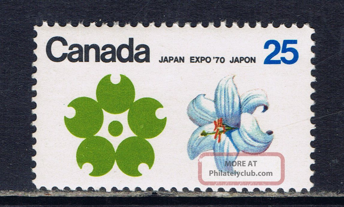 Canada 510 (1) 1970 25 Cent Expo ' 70 White Garden Lily (quebec) Cv$3.  00 Canada photo