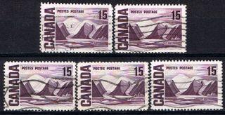 Canada 463 (16) 1967 15 Cent Bylot Island Dull Fluorescence 5 photo