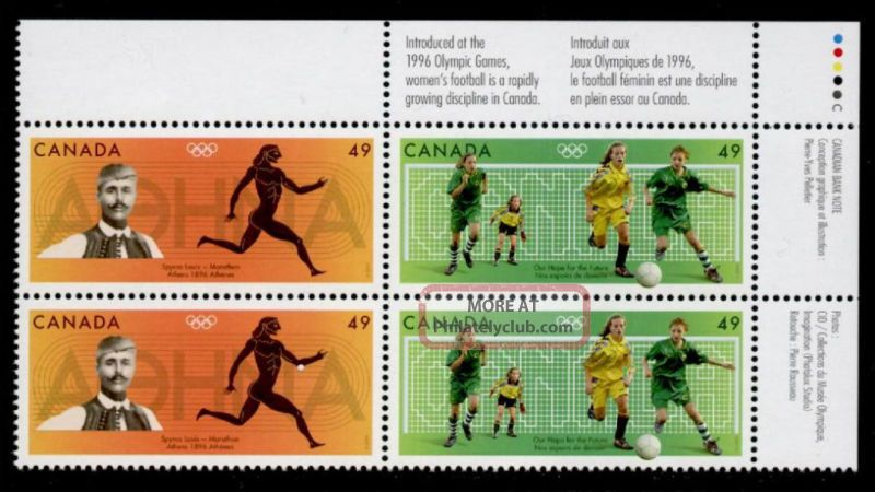 Canada 2050a Tr Plate Block - Olympic Sports,  Soccer Canada photo