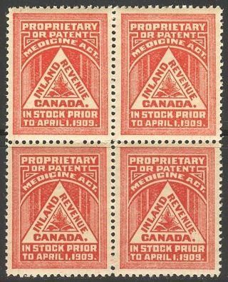 Canada Fm1,  1909 Medicine - Inland Revenue,  B4 photo