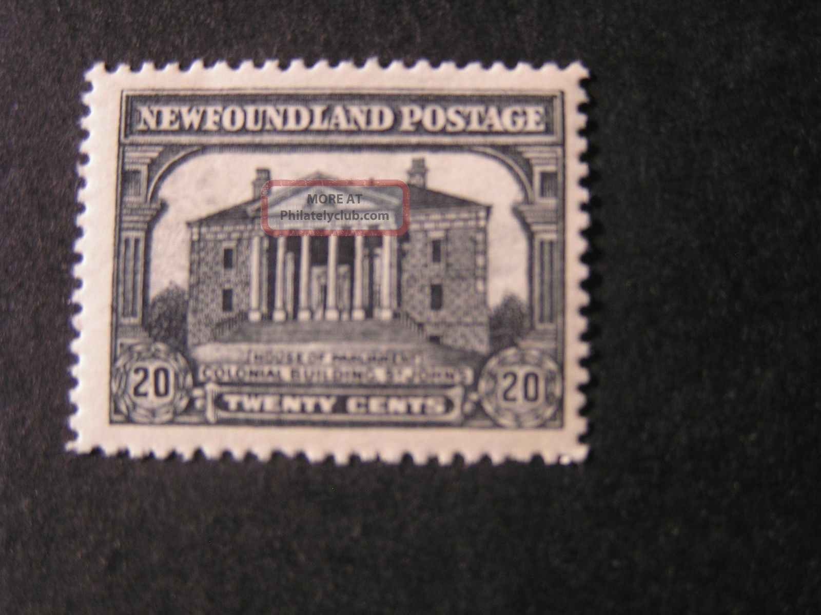 Newfoundland,  Scott 157,  20c.  Value 1928 Scenes Of Newfoundland Issue Mvlh Canada photo