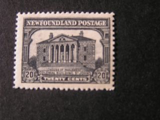 Newfoundland,  Scott 157,  20c.  Value 1928 Scenes Of Newfoundland Issue Mvlh photo