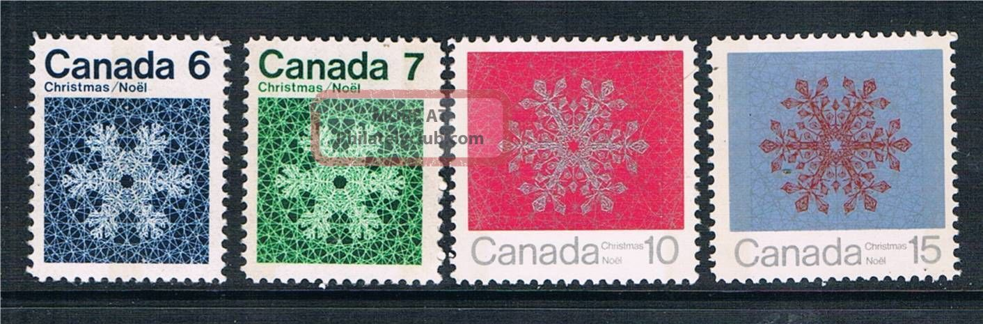 Canada 1971 Christmas Phospher Bands Sg 687p/90p Stamps photo