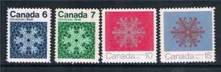 Canada 1971 Christmas Phospher Bands Sg 687p/90p photo