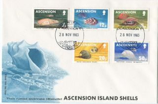 Ascension Island First Day Postal Cover Shells 1983 photo