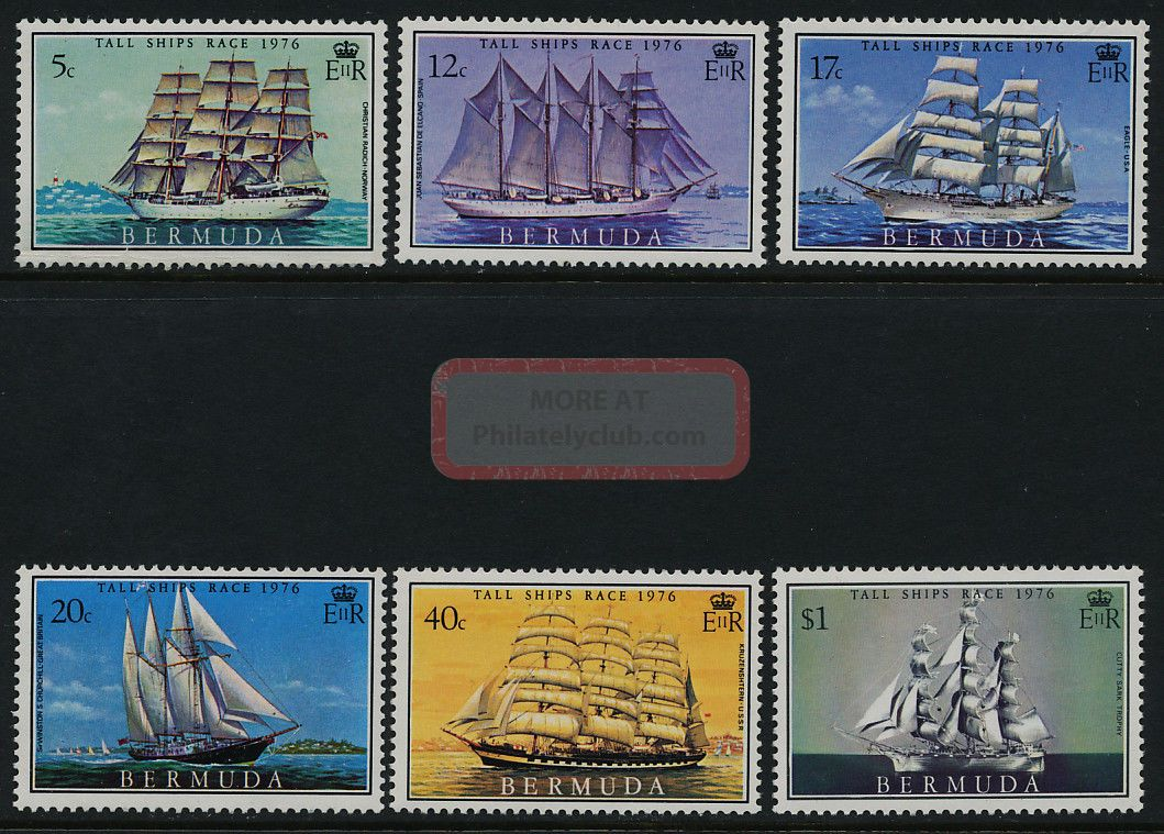 Bermuda 337 - 42 Sailing Ships British Colonies & Territories photo