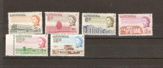 Antigua 1966 Scott 169,  170,  172,  173,  174,  175 Vf Cv $4 photo