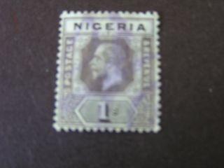 Nigeria,  Scott 8,  1/.  Value Black & Green Kgv 1914 - 27 Die I Issue photo