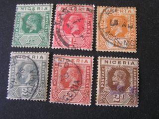 Nigeria,  Scott 18 - 23 (6).  Kgv 1921 - 33 Die Ii Issue photo