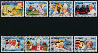 Uganda 1113 - 20 Pope John Paul Ii,  Flags,  Architecture photo