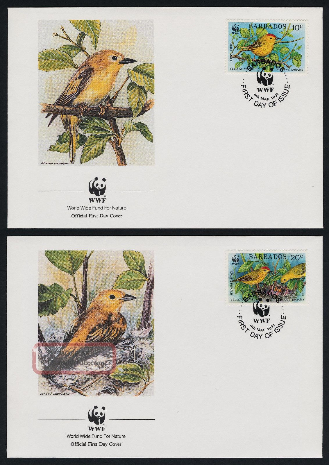Barbados 795 - 8 Fdc ' S Wwf,  Birds,  Insects British Colonies & Territories photo