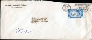 Bermuda - Usa 1949 Cover F/w Centenary 3d Stamp Tied By Hamilton Slogan Mark photo