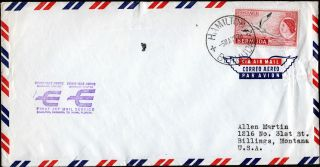 Bermuda - Usa 1959 Airmail Cover F/w Qeii 8d Tied By Hamilton Cds photo