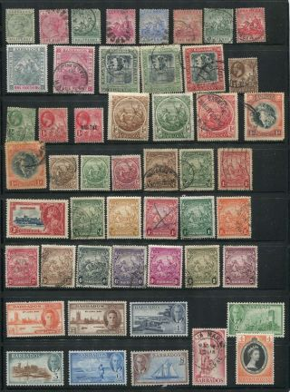 Deluxe Barbados Mostly Older Stamp Assortment photo