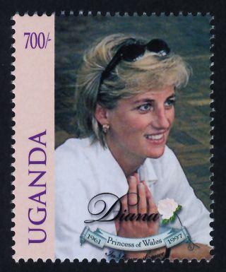 Uganda 1578 Princess Diana,  Royalty photo
