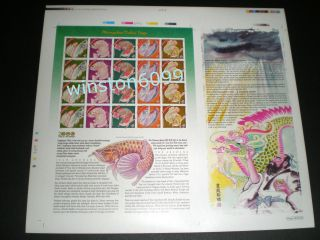 2000 Malaysia Dragon Year Large Imperforated Uncut Full Pane (a) Limited Edition photo
