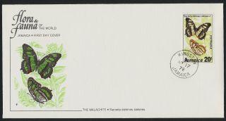 Jamaica 436 Fdc Butterflies photo