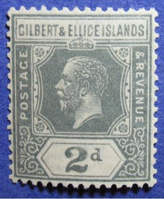1922 Gilbert Ellice Is 2d Scott 30 Sg 30 Cs06884 photo