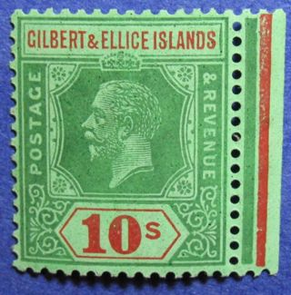 1924 Gilbert Ellice Is 10s Scott 31 Sg 35 Nh Cs06886 photo