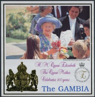 Gambia 2146 Queen Mother 100th Birthday,  Flowers photo