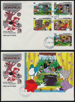 Dominica 925 - 30 Fdc ' S Disney,  Brothers Grimm,  Little Red Cap photo