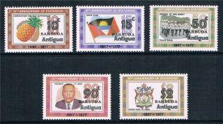 Barbuda 1978 Anniv.  Of Statehood Sg 384/8 photo