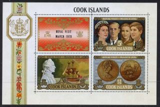 Cook Islands 286a Captain Cook,  Coin,  Royalty,  Ship photo