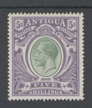 Antigua Sg51 The 1913 Gv 5/ - Grey Green And Violet Mounted Cat £95 photo