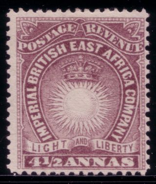British East Africa,  1890 Mh,  Sg 11 4½a Dull Violet H.  R. photo