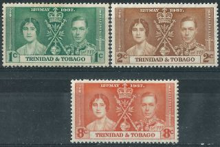 Trinidad & Tobago.  1937.  Omnibus Issue.  Royalty.  Mm.  (2955) photo