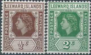 Leeward Islands.  1954. .  (3035) photo