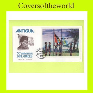 Antigua 1981 50th Anniv Girl Guides M/s First Day Cove photo