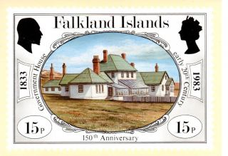 Falkland Islands Sg443 1983 Anniversary 15p Maxi Card Fdi Cancel photo