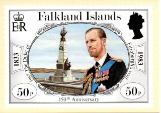 Falkland Islands Sg447 1983 Anniversary 50p Maxi Card Fdi Cancel photo