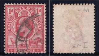 Orange River Colony 1903 Kevii 1d Scarlet Wmk Inverted.  Sg 140w. photo