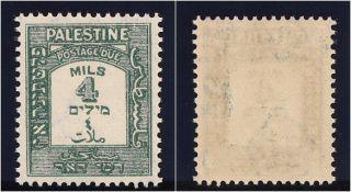 Palestine 1942 Kgvi 4m Green Perf 15x14.  Sg D14a.  Sc J14a. photo