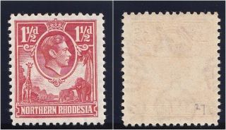 Northern Rhodesia 1938 Kgvi 1½d Carmine - Red.  Sg 29.  Sc 29. photo