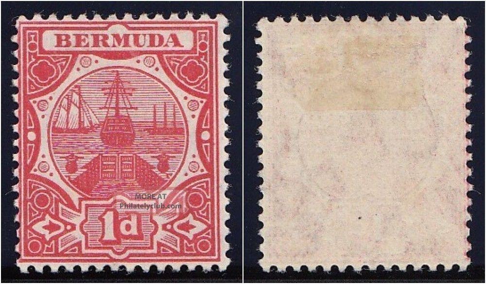 Bermuda 1906 Kevii 1d Red.  Sg 38.  Sc 38. British Colonies & Territories photo