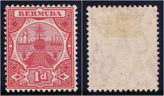 Bermuda 1906 Kevii 1d Red.  Sg 38.  Sc 38. photo