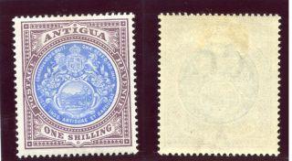 Antigua 1903 Kevii 1s Blue & Dull Purple Mlh.  Sg 37.  Sc 27. photo