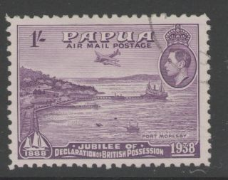 Papua Sg162 1938 1/= Mauve Fine photo
