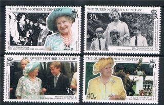 South Georgia 1999 Queen Mother Centenary Sg289/92 photo