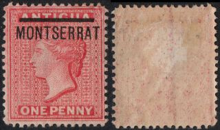 Montserrat Sg 1 1876 - 83 1d Red. photo