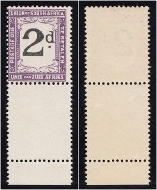 South Africa 1922 Kgv Postage Due 2d Black & Deep Violet.  Sg D14b. photo