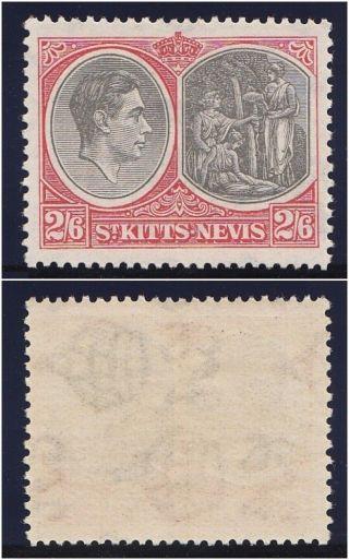 St Kitts - Nevis 1938 Kgvi 2s6d Black & Scarlet.  Sg 76.  Sc 87a. photo