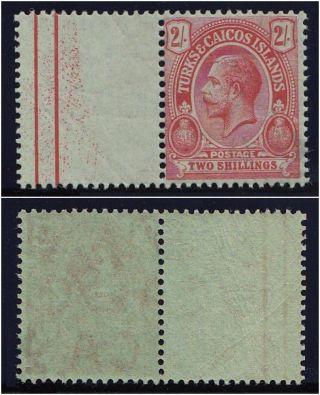 Turks & Caicos 1913 Kgv 2s Red/emerald.  Sg 138b.  Sc 34b. photo