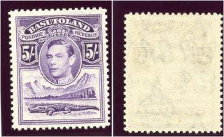 Basutoland 1938 Kgvi 5s Violet Mlh.  Sg 27.  Sc 27. photo