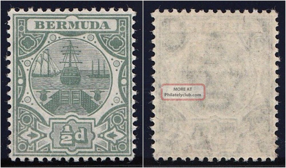 Bermuda 1906 Kevii ½d Green.  Sg 36.  Sc 33. British Colonies & Territories photo
