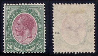 South Africa 1913 Kgv 2s6d Purple & Green.  Sg 14.  Sc 13. photo